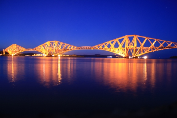 Forth Rail Bridge (noche)