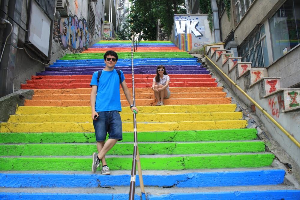 Escaleras de colores en Estambul