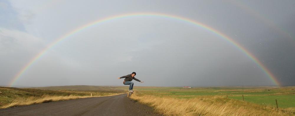 Borja and the rainbow
