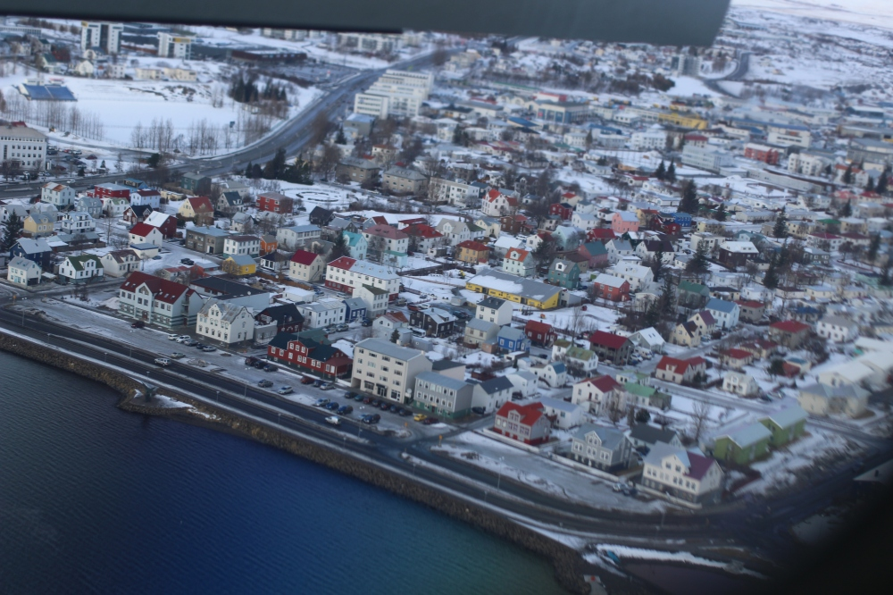 Akureyri desde el avión