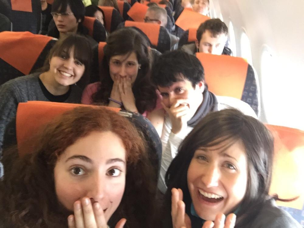 Selfie en el avión