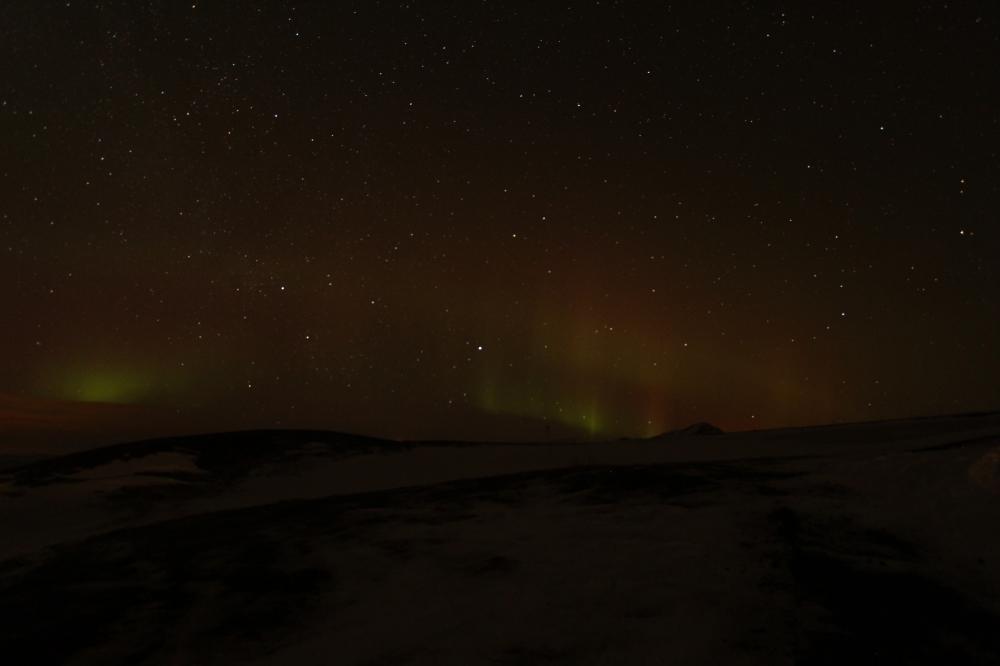 Aurora boreal roja