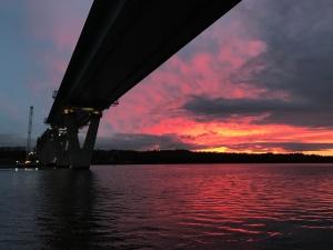 Atardecer en el puente