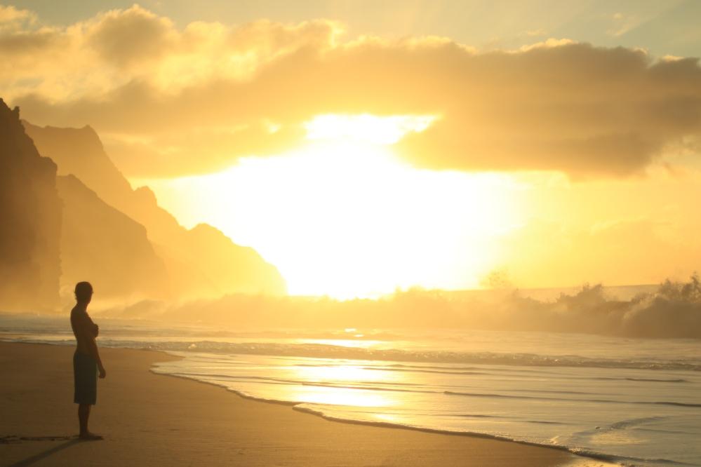 Sunset at Kalalau