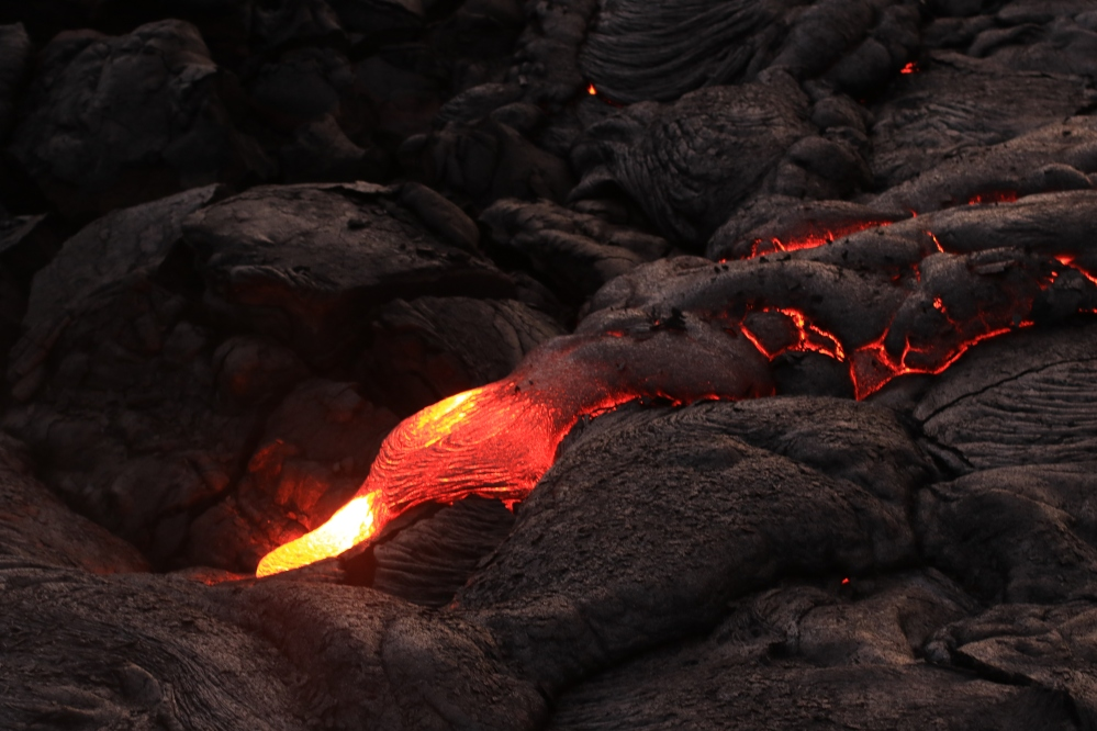 Pahoehoe lava - Hawaii - Big Island