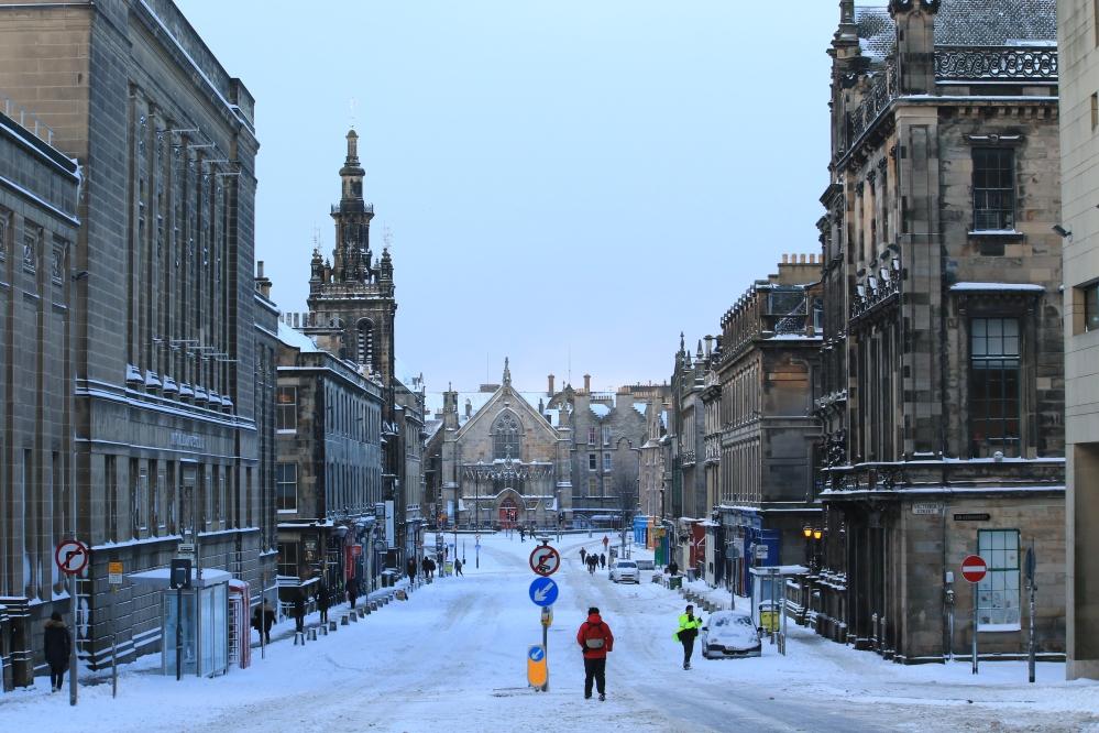 Snow in Edinburgh