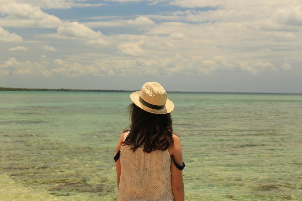 Tami en la playa