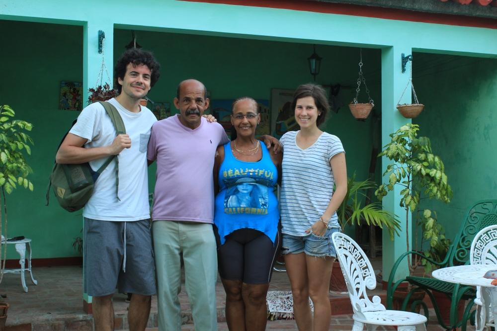Con Raúl y su mujer